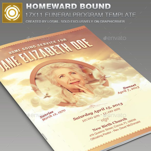Homeward Bound Funeral Program Template 003