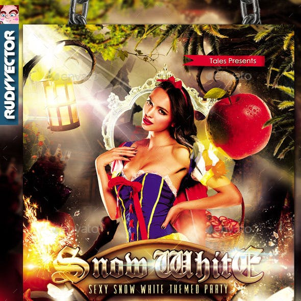 Sexy Snow White Theme Flyer