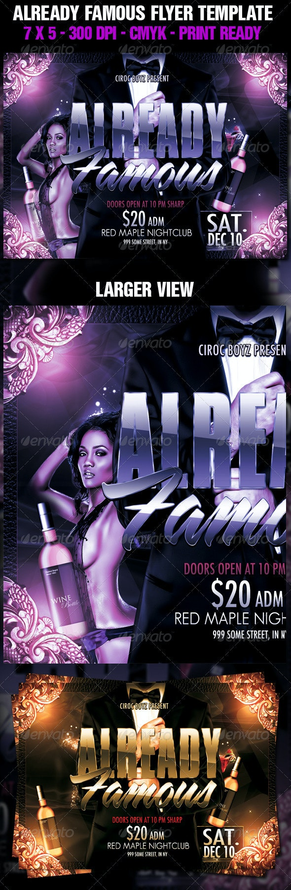 Already Famous Flyer Template - Clubs & Parties Events