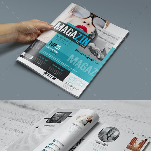 Magazine Template - Photoshop PSD