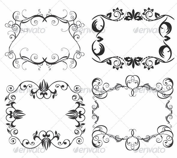 Floral Frames - Flourishes / Swirls Decorative