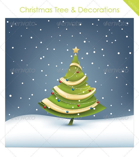 Christmas Tree & Decorations - Christmas Seasons/Holidays