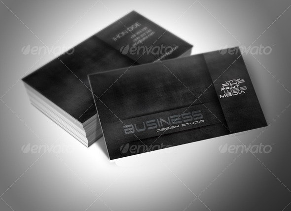 Shadow Vision Business Card - Grunge Business Cards