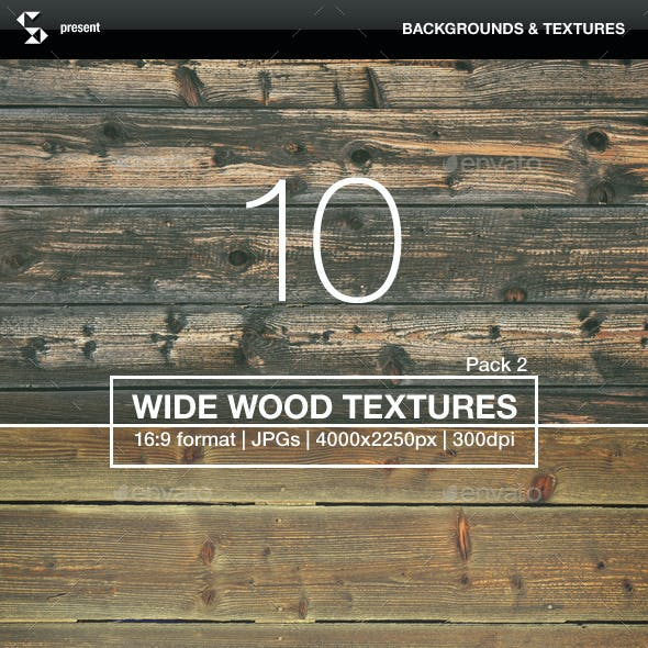 10 Wide Wood Textures 2 - Wood Backgrounds