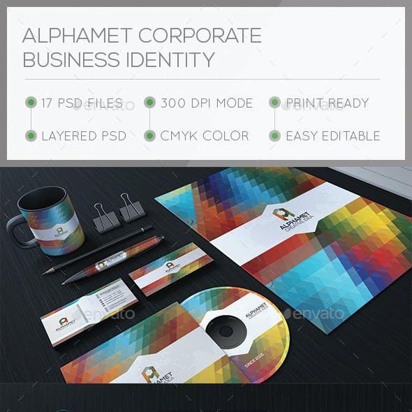 Alphamet Corporate Stationary Identity
