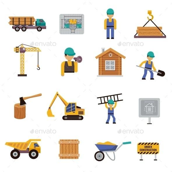 Construction Icon Flat
