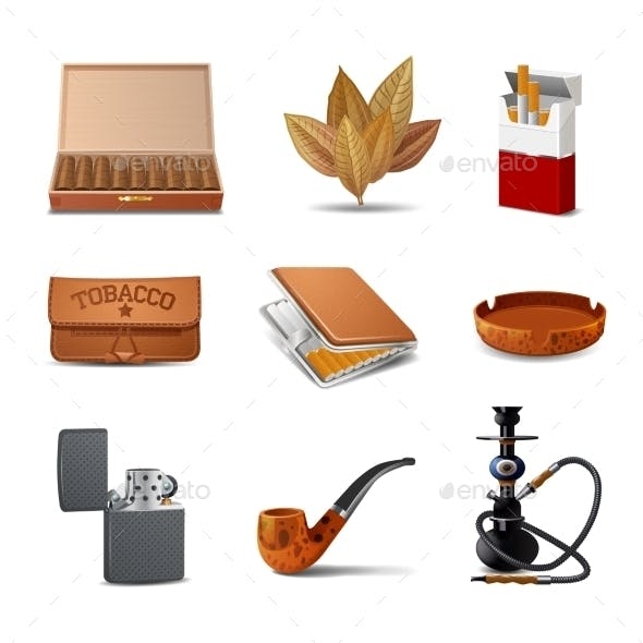 Tobacco Icon Set