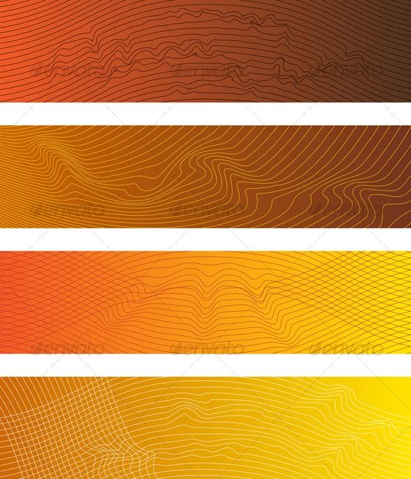 Sound Waves Banner II - Backgrounds Decorative