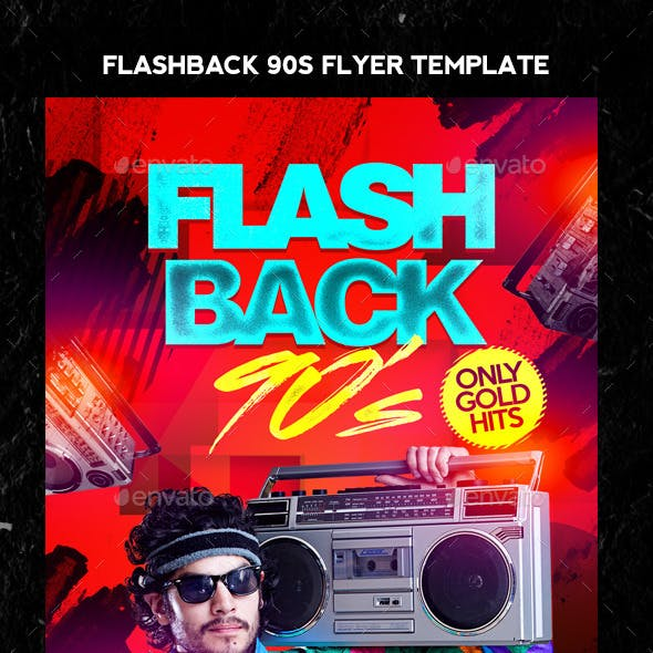 Flash Back 90s Flyer