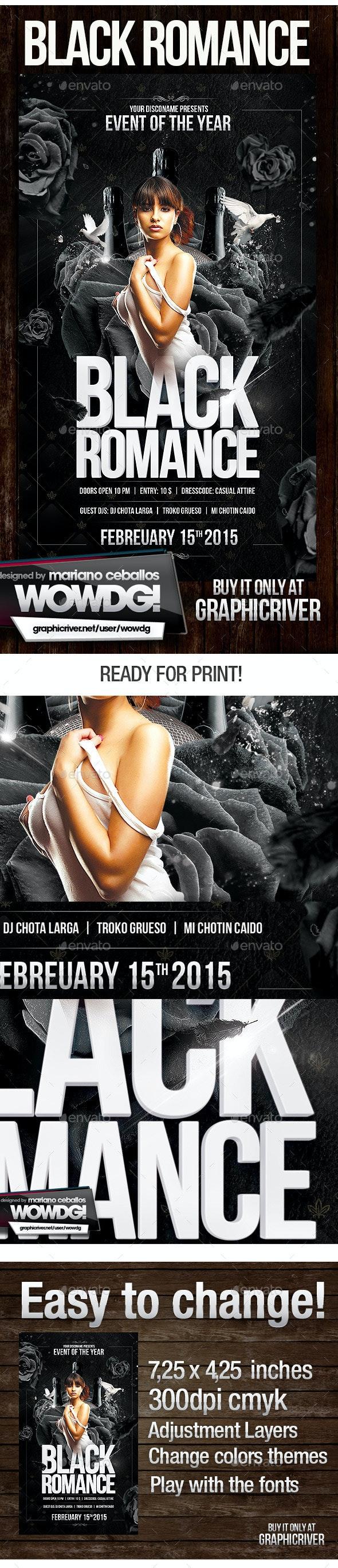 Black romance - Flyers Print Templates