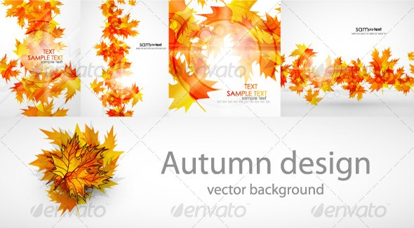 Autumn background pack - Seasons Nature