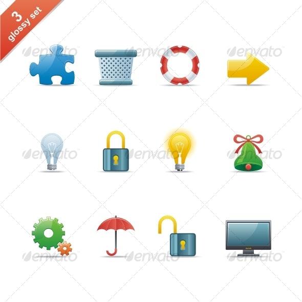 Glossy icon set - Media Icons