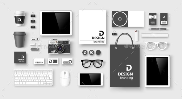 Set of Corporate Identity and Branding - Man-made Objects Objects