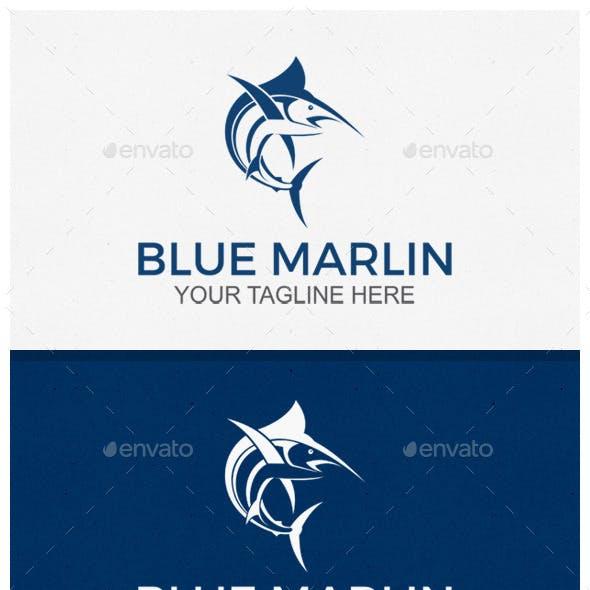 Blue Marlin Logo Template