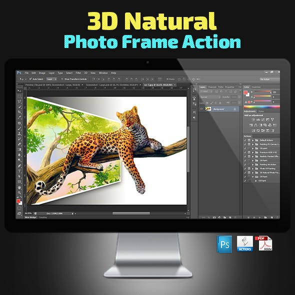 3D Natural Photo Frame Action