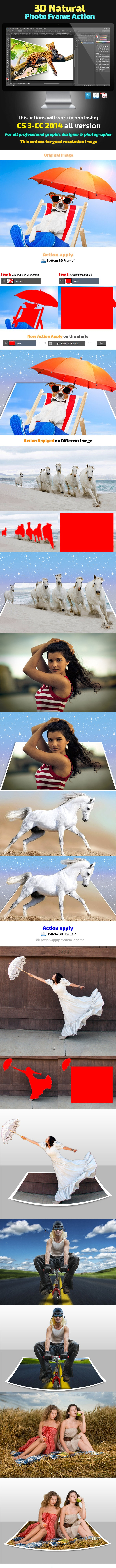 3D Natural Photo Frame Action - Photo Effects Actions