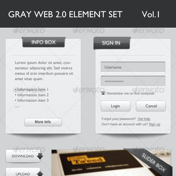 Gray Web 2.0 Elements Volume 1