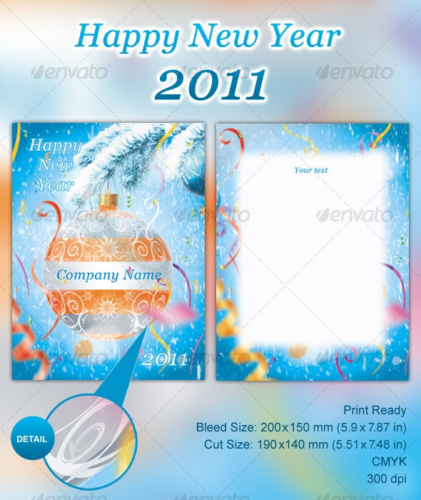 Happy New Year 2011  - Miscellaneous Print Templates