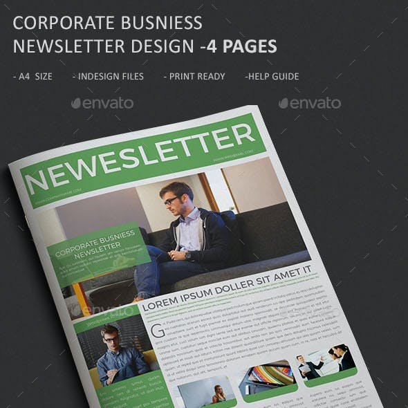 Corporate Business Newsletter - 4 Page