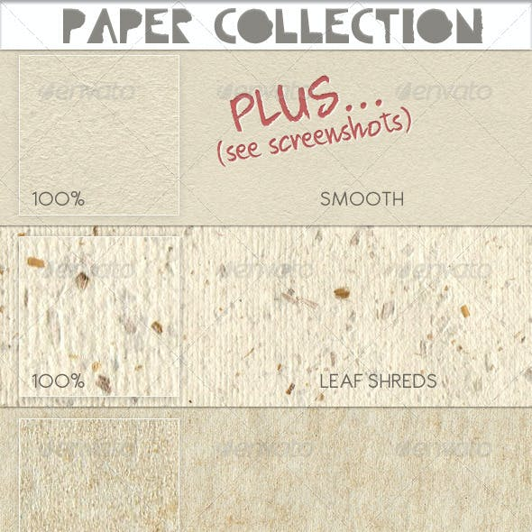Paper Texture Collection, seamless tileable