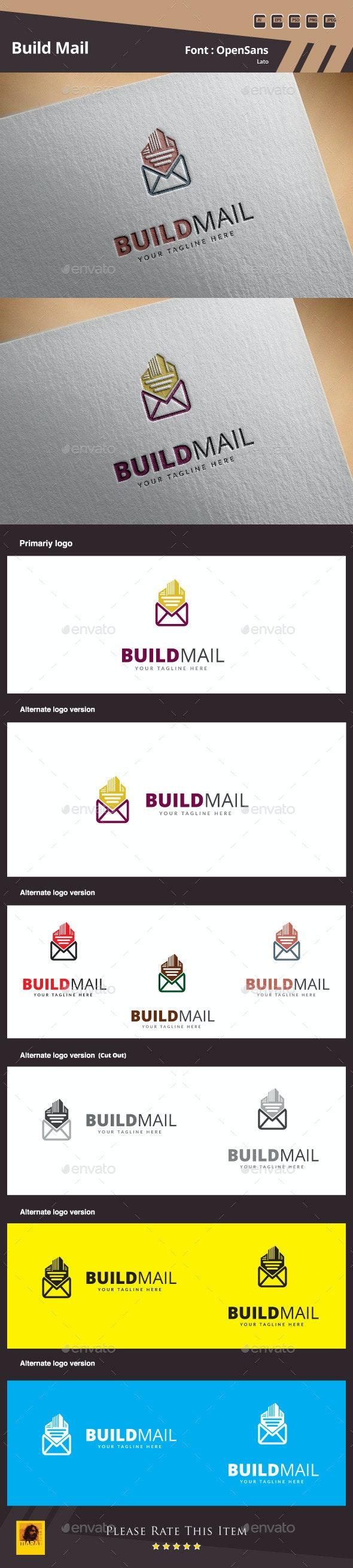 Build Mail Logo Template - Buildings Logo Templates