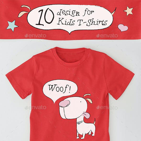 10 Kids T-Shirts Design