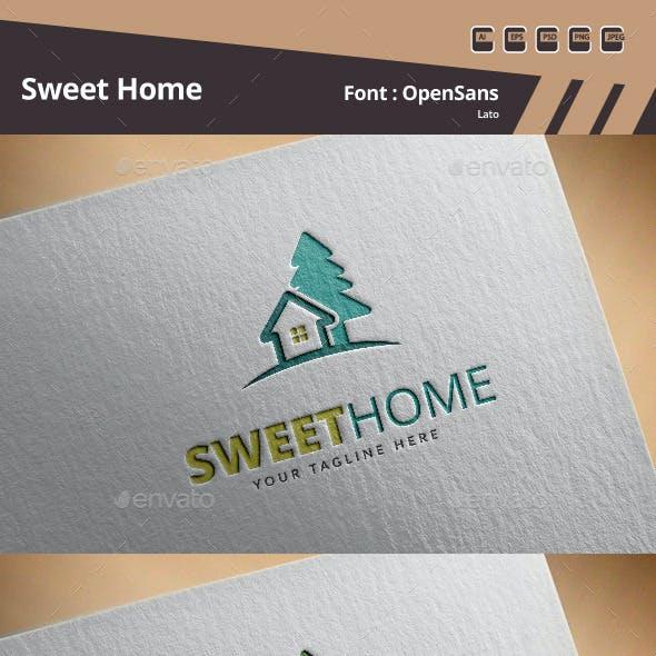 Sweet Home Logo Template