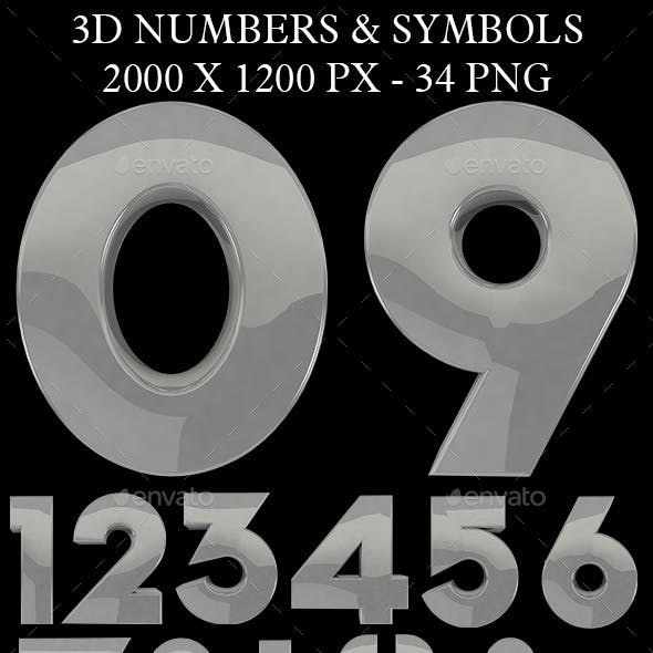 3d Number and Symbols