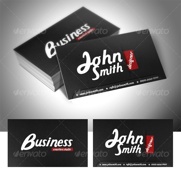 Black Vision Business Card - Creative Business Cards