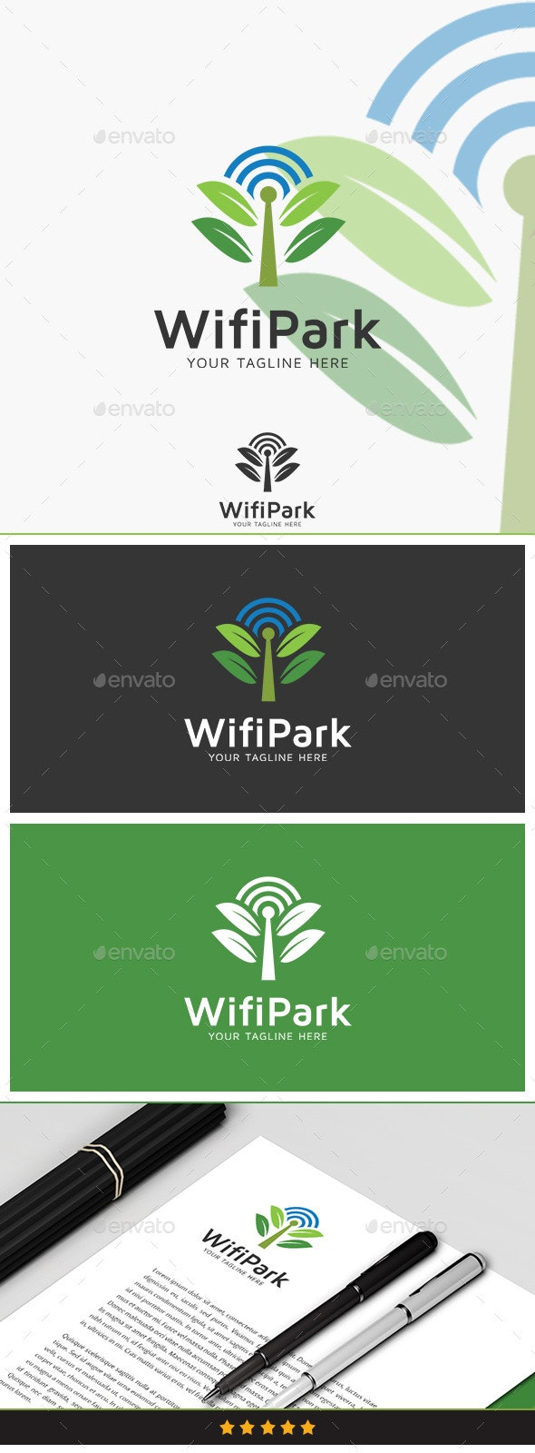 Wifi Park Logo - Nature Logo Templates