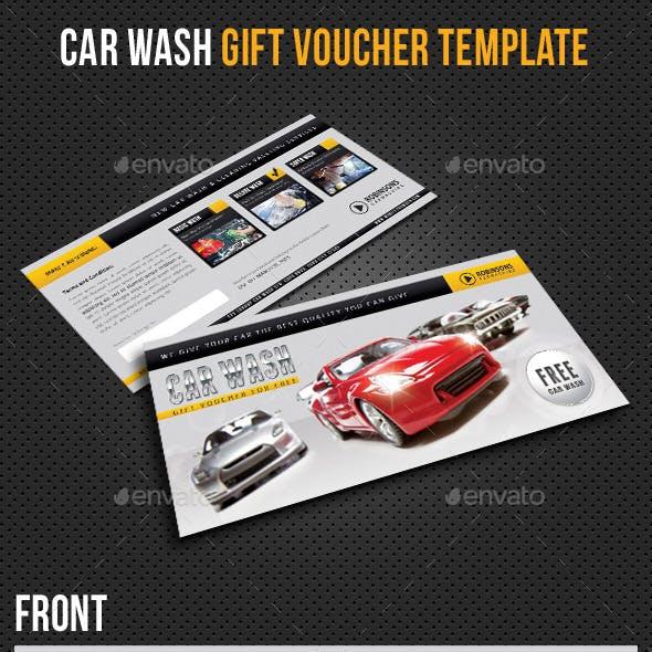 Car Wash Gift Voucher Template V02