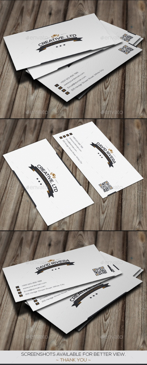 White Classic Business Card - Business Cards Print Templates