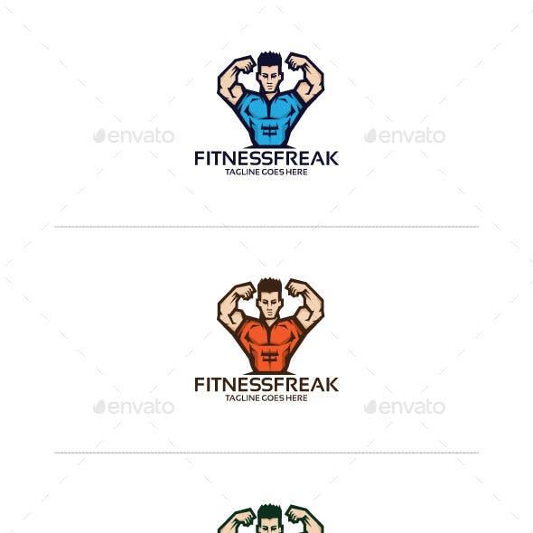 Fitness man Logo Mascot