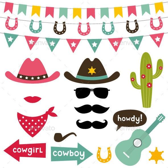 Cowboy Set - Miscellaneous Vectors