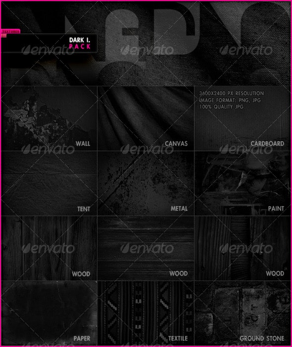 Dark I. Pack - Miscellaneous Textures