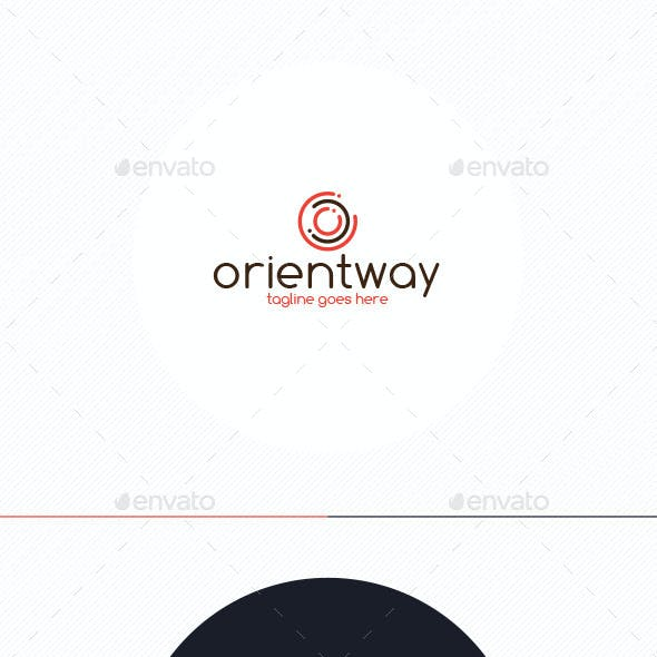 Orient Way Logo • Letter O
