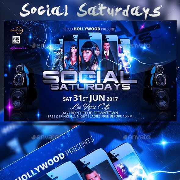 Social Saturdays Flyer