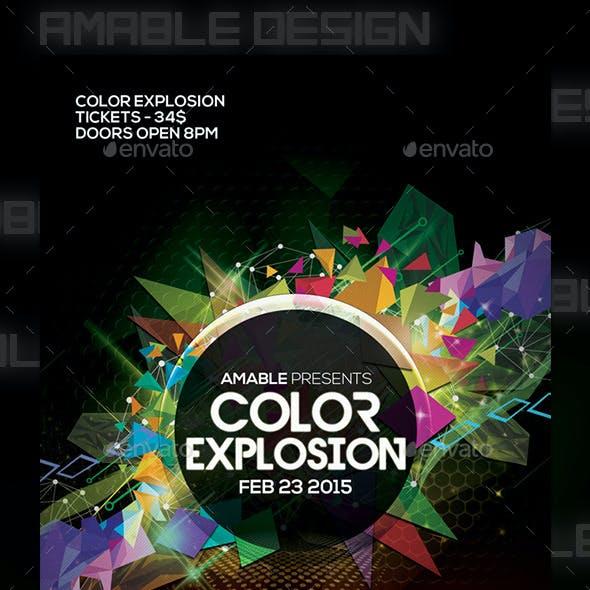 Color Explosion Flyer