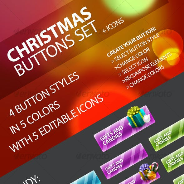 Christmas Buttons Set