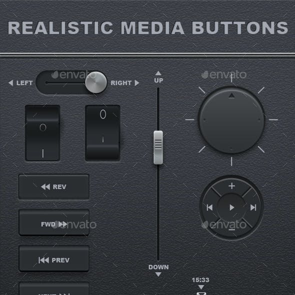 Realistic Media Buttons