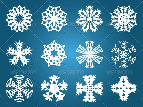 Beautiful Christmas Snowflakes - Patterns Decorative