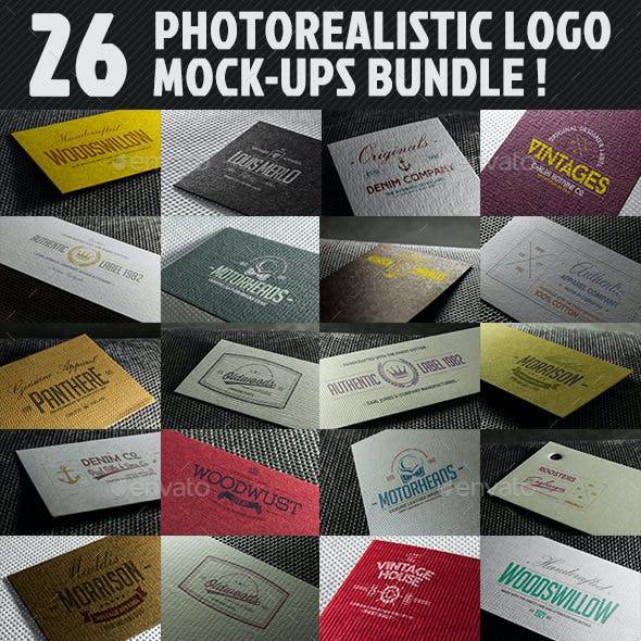 26 Photorealistic Logo Mockups
