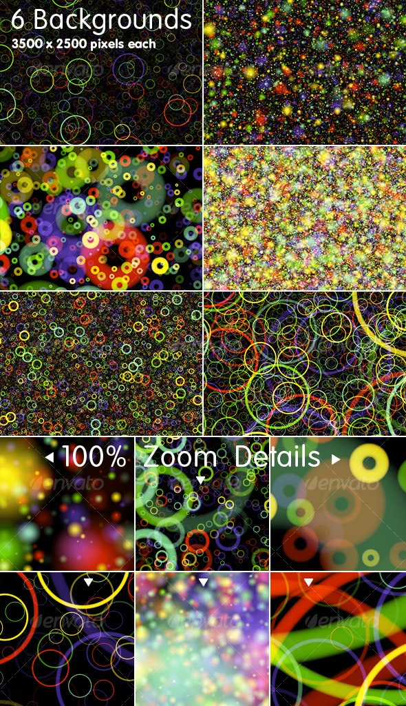 6 Lights Backgrounds - Abstract Backgrounds
