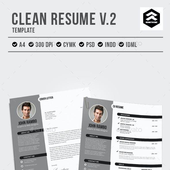 Clean Resume vol.2