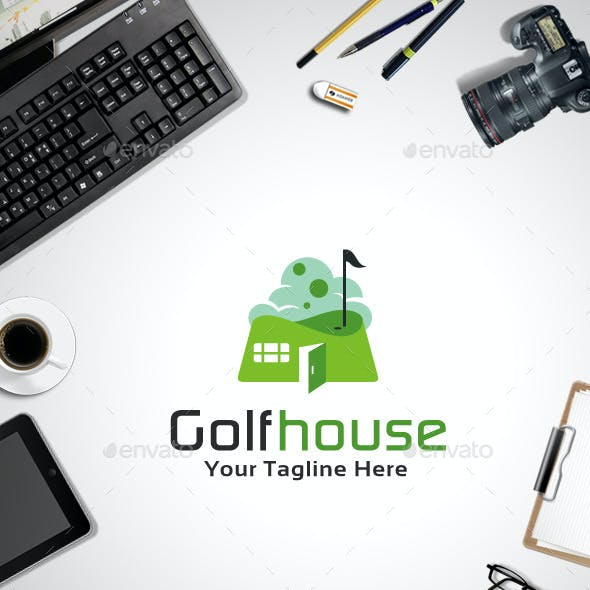 Golf house Logo Template