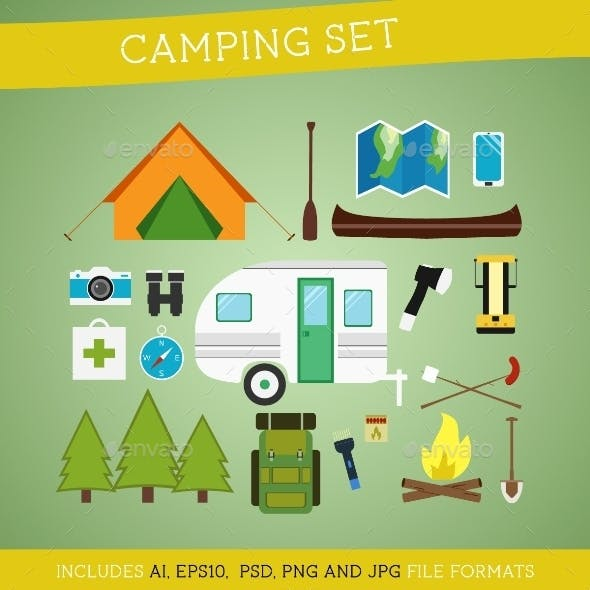 Camping Equipment Set