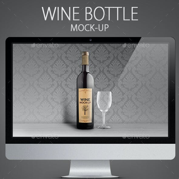 Wine Bottle Mock-Up