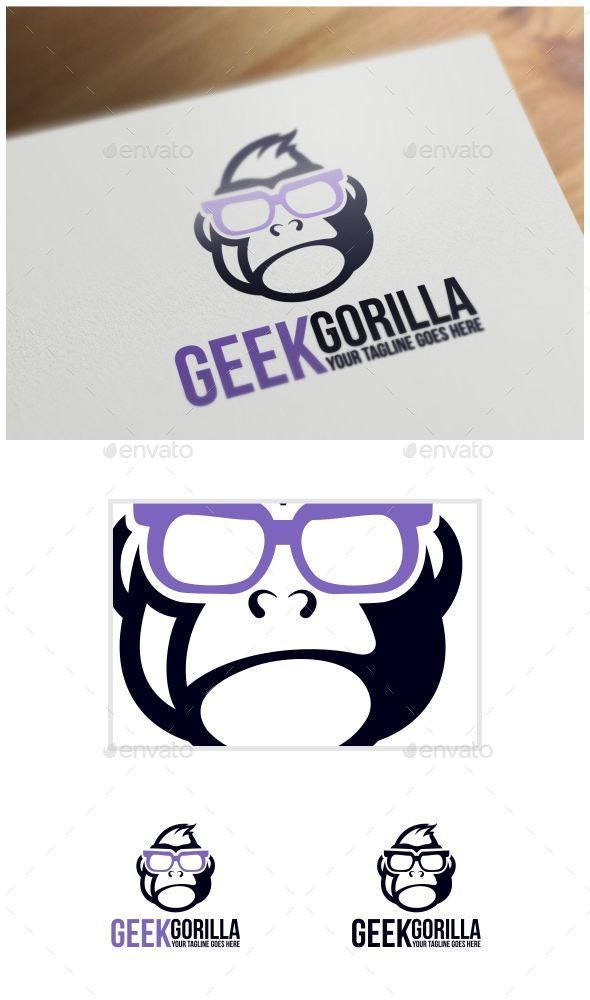 Geek Gorilla Logo Template - Animals Logo Templates