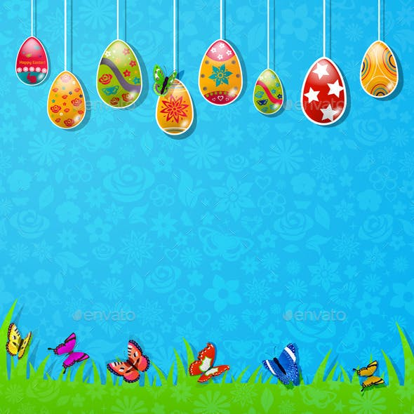 Easter Background Made Of Paper