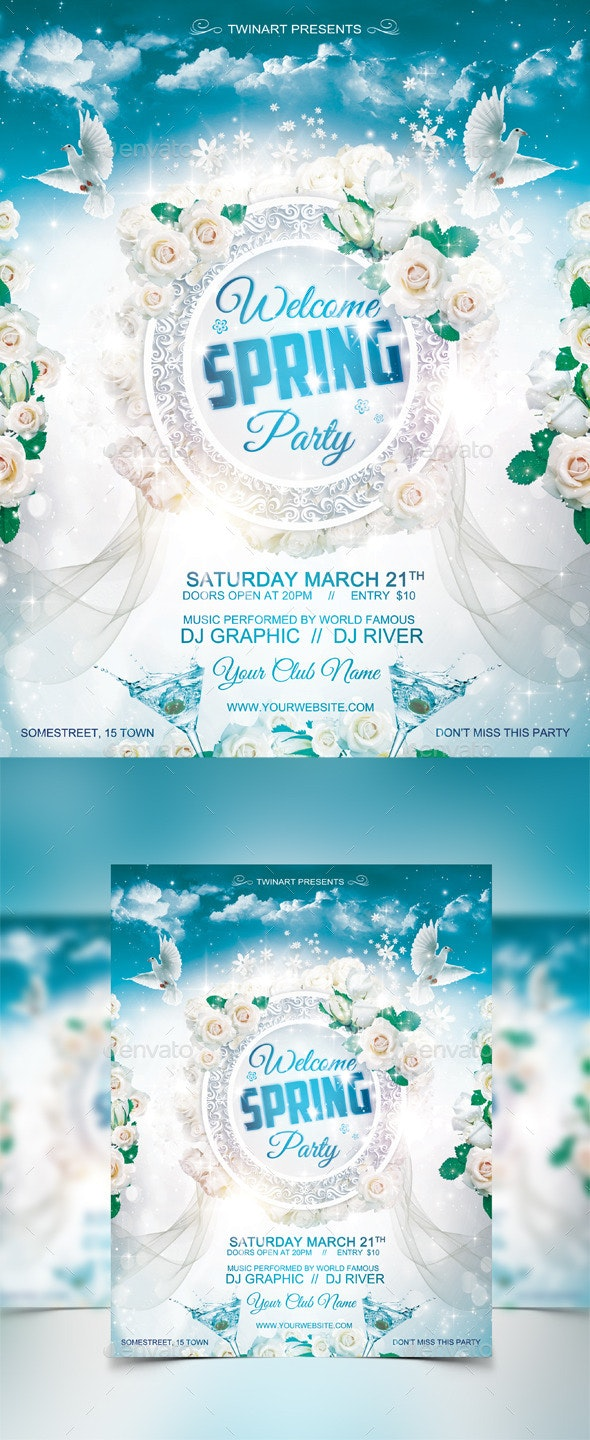 Spring Party Flyer - Flyers Print Templates